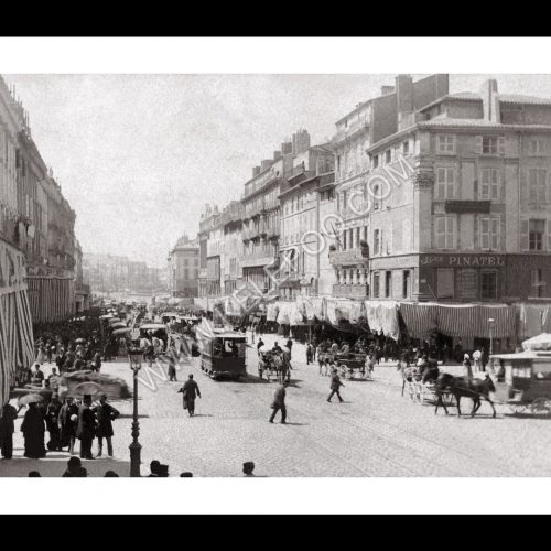 Photo d'époque Marseille n°20 - La Canebière et l'ancien tramway