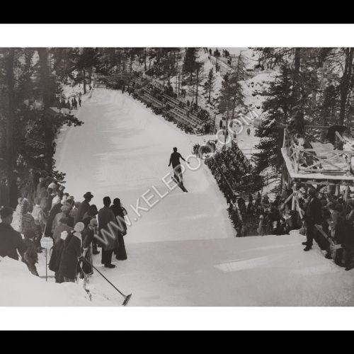 Photo d'époque SPORT n°76 - saut à ski - Morven Cup - Saint-Moritz