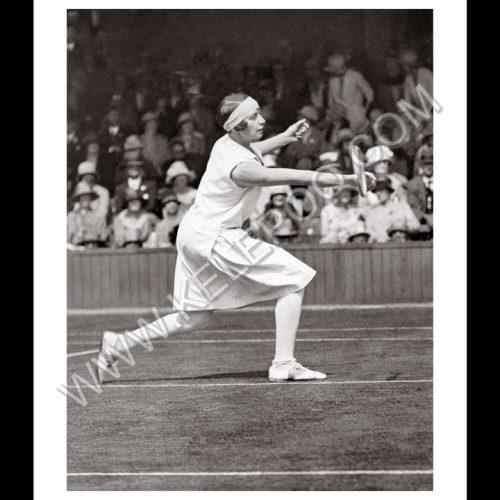 Photo d'époque SPORT n°79 - Kitty Godfree - 3ème tour de Wimbledon Juin 1927 - Photographe Victor Forbin
