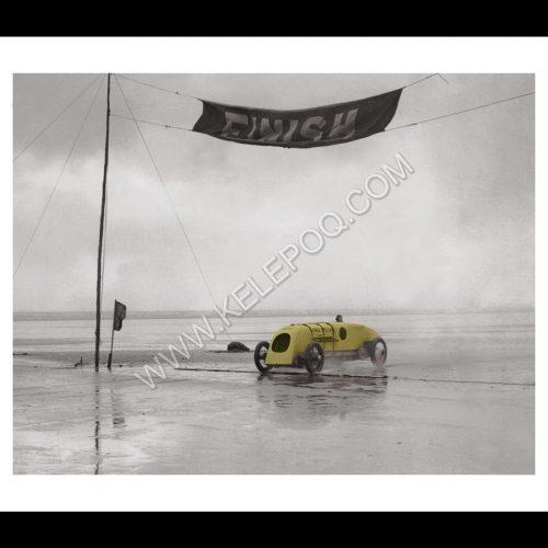 Photo d'époque Automobile couleur n°10 - photographe Victor Forbin - BABS voiture de record (70x105)