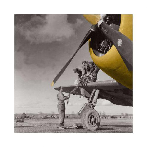 Photo d'époque Dans les airs couleur n°12 - bombardier torpilleur (100x100)