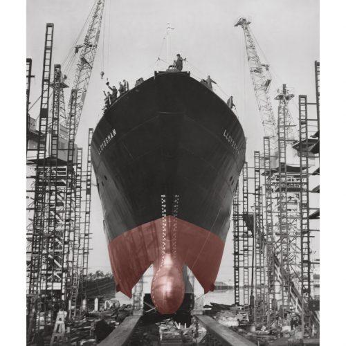 Photo d'époque Industries couleur n°01 - remorqueur haute mer (1M50)