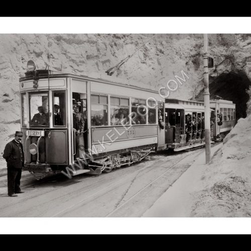 Photo d'époque Locomotive n°19 - Tramway de Nice et du Littoral