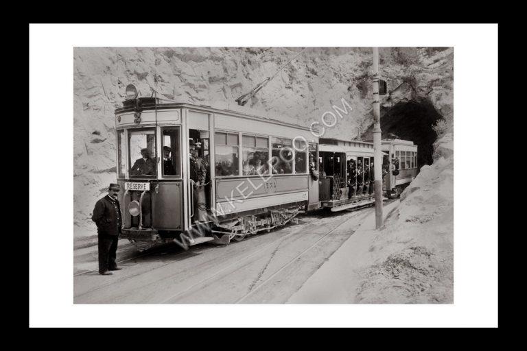 Photo d'époque Locomotive n°19 - Tramway de Nice et du Littoral