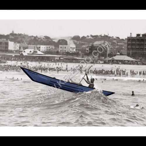 Photo d'époque Mer couleur n°46 - surf-canoe Sydney - Photographe Victor Forbin (70x105) - en couleur