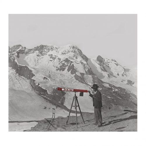 Photo d'époque Montagne couleur n°59 (100x100)