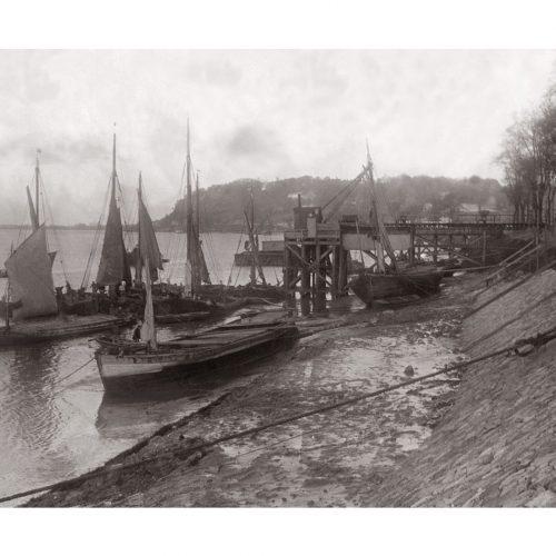 Photo d'époque Sur l'eau n°70 - bateaux de pêche bord de la Garonne