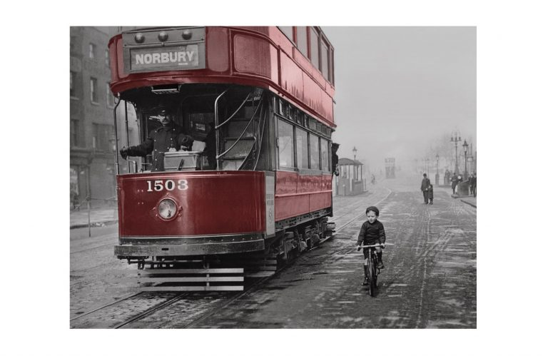 Photo d'époque Urbain couleur n°02 - tram Londres