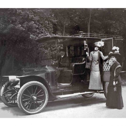 Photo d'époque Automobile n°81 - balade en voiture en 1913