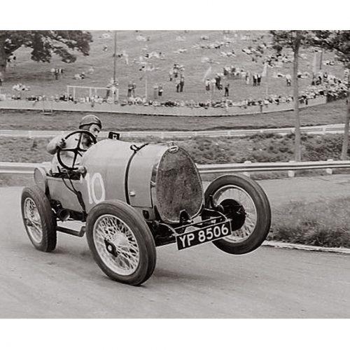Photo d'époque Automobile n°82 - voiture Bugatti Type 13 Brescia - course Angleterre