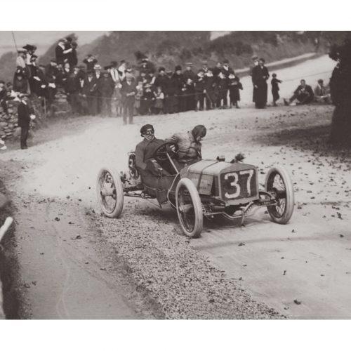 Photo d'époque Automobile n°87 - Sir Julian Orde lors du Tourist Trophy - Ile de Man - 1904 - Photographe Victor Forbin