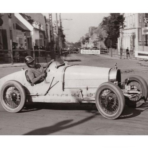 Photo d'époque Automobile n°88 - Ivy Cummings - Bugatti - Grand Prix de Boulogne - août 1926 - Photographe Victor Forbin