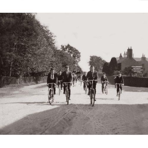 Photo d'époque Cycles n°52 - course cycliste