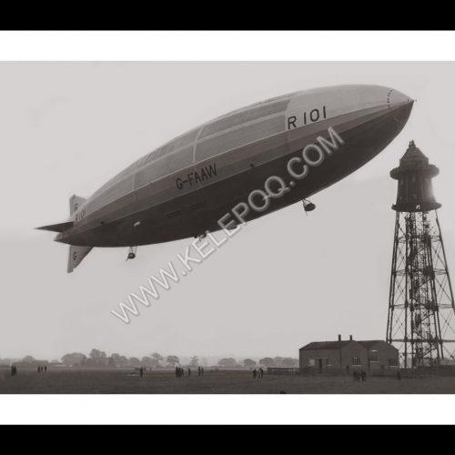Photo d'époque Dans les airs n°30 - ballon dirigeable R101 - 14 octobre 1929