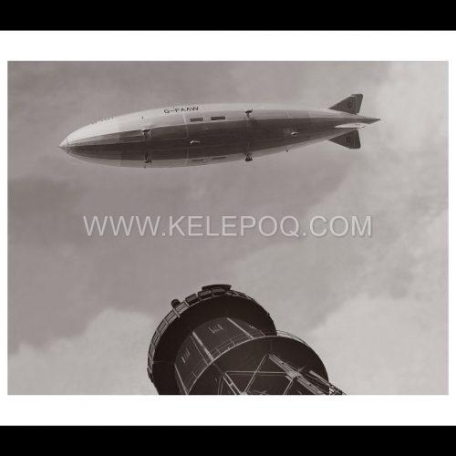 Photo d'époque Dans les airs n°31 - ballon dirigeable R101 - 14 octobre 1929
