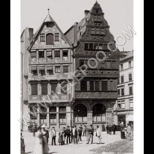 Photo d'époque Francfort n°02 - Maisons à côté du Römer - Römerberg