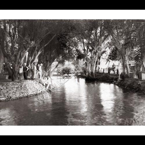 Photo d'époque Invitation au voyage n°16 - détente au bord du Nil en Egypte