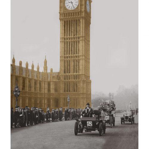 Photo d'époque Londres couleur n°02 - Course Old Crocks - Big Ben