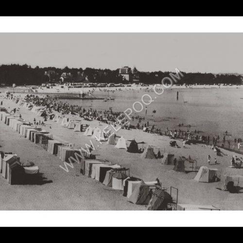 Photo d'époque La Baule n°03 - tentes sur la plage