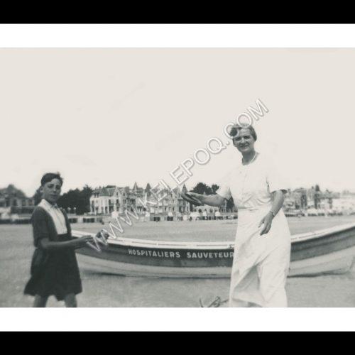Photo d'époque La Baule n°06 - jeux de frisbee sur la plage en 1937