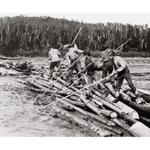 Photo d'époque Métiers n°50 - Flottage du bois