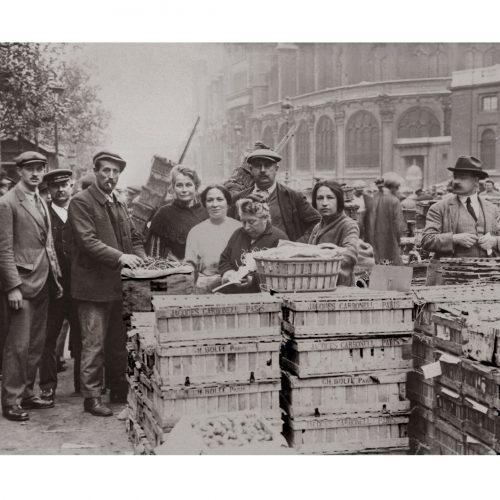 Photo d'époque Métiers n°52 - marché de Paris en 1920
