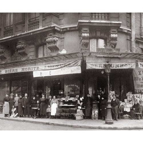 Photo d'époque Métiers n°55 - restaurant bar années 1900