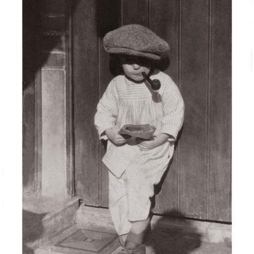 Photo d'époque Enfance n°35 - l'enfant à la pipe