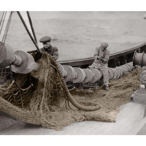 Photo d'époque Pêche couleur n°03 - photographe Victor Forbin