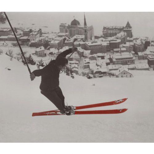 Photo d'époque Sport couleur n°15 - saut à ski JO St Moritz