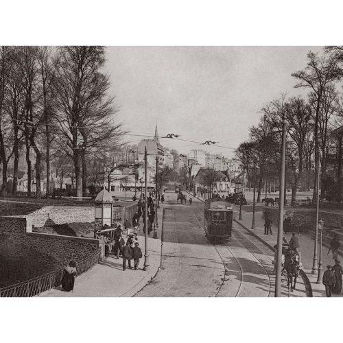 Photo d'époque Brest n°02 - tramway rue de paris