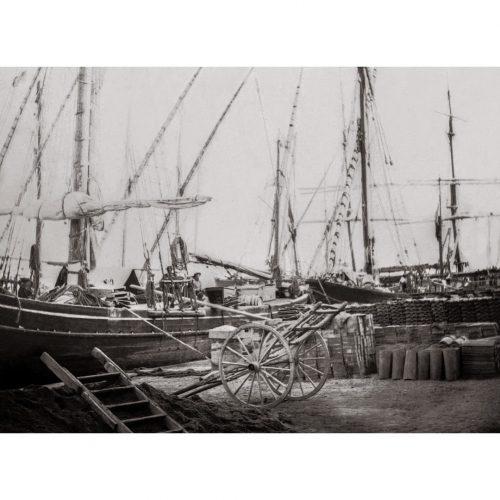 Photo d'époque cannes n°08 - bateaux sur le port