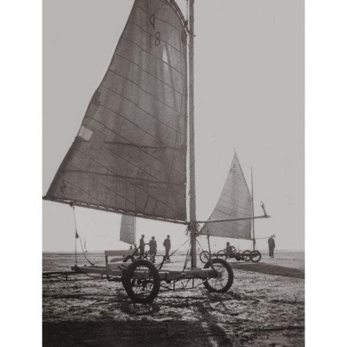 Photo d'époque mer n°90 - char à voile