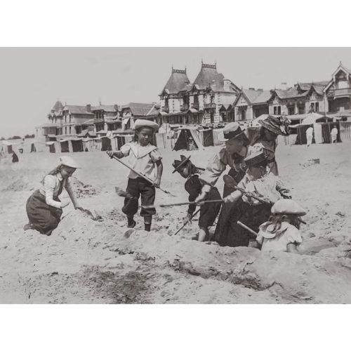 Photo d'époque Mer n°93 - Château de sable