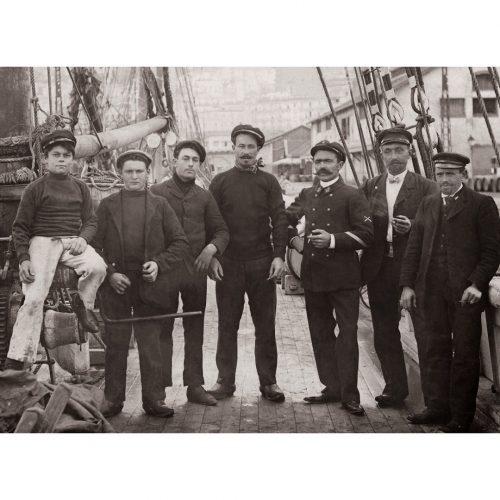 Photo d'époque mer n°94 - marins sur le pont