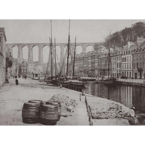 Photo d'époque Morlaix n°01 - vue sur le viaduc
