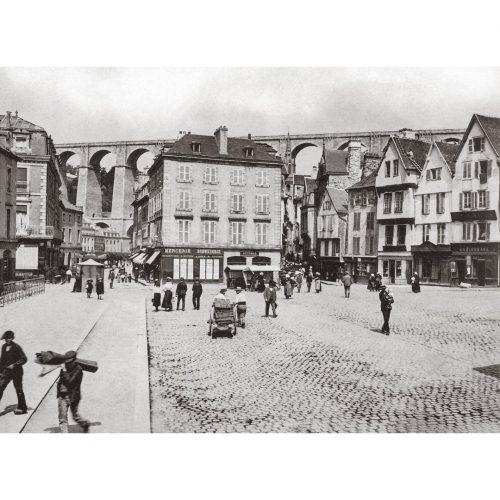 Photo d'époque Morlaix n°02 - Place de Viarmes